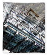 Bridge Abstract Fleece Blanket