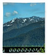 Bridge Alaska Rail  Fleece Blanket
