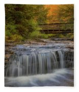 Bridge And Falls Fleece Blanket