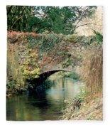 Bridge At Blarney Castle Fleece Blanket