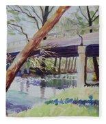 Bridge At Camp Verde Fleece Blanket