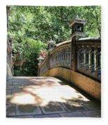 Bridge Crossing Tam Coc Vietnam Fleece Blanket