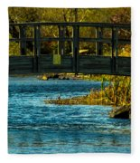 Bridge For Lovers Fleece Blanket