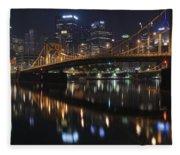 Bridge In The Heart Of Pittsburgh Fleece Blanket