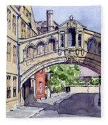 Bridge Of Sighs. Hertford College Oxford Fleece Blanket