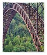 Bridge Of Trees Fleece Blanket