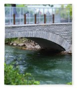 Bridge On The Niagara River Fleece Blanket