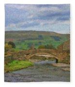 Bridge Over Duerley Beck - P4a16020 Fleece Blanket