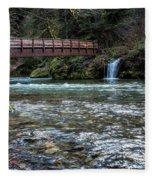 Bridge Over Hackleman Creek Fleece Blanket
