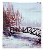 Snowy Span Fleece Blanket