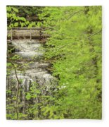 Bridge Over Little Clifty Falls Fleece Blanket