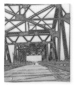 Bridge Over Mississippi Fleece Blanket