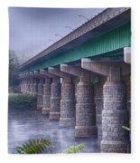 Bridge Over The Delaware River Fleece Blanket