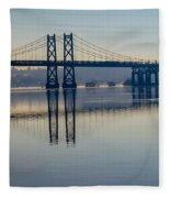 Bridge Over The Mississippi Fleece Blanket