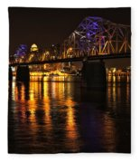 Bridge Over The Ohio Fleece Blanket