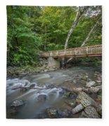 Bridge Over The Pike River Fleece Blanket