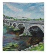 Bridge Over The River Laune, Killorglin Ireland Fleece Blanket