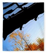 Bridge Over The River Sky Fleece Blanket