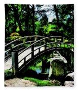 Bridge Over The Stream Fleece Blanket