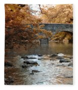 Bridge Over The Wissahickon At Valley Green Fleece Blanket