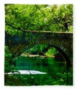 Bridge Over The Wissahickon Fleece Blanket