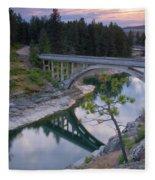 Bridge Reflection Fleece Blanket
