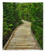 Bridge To Chimney Pond Fleece Blanket
