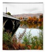 Bridge To Downtown Prosser Fleece Blanket