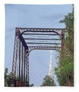 Bridge To God Fleece Blanket