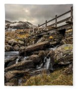 Bridge To Moutains Fleece Blanket