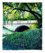 Bridge To New York Fleece Blanket