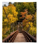 Bridge To Rainbow Falls Fleece Blanket