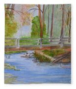 Bridge To Serenity   Smithgall Woods State Park Fleece Blanket