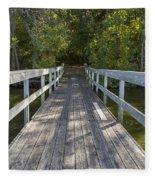Bridge To Woods 1 Fleece Blanket