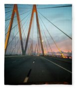 Bridges Fleece Blanket