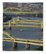 Bridges Of Pittsburgh Fleece Blanket