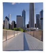 Bridgeway To Chicago Fleece Blanket