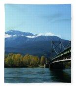 Bridging The Seasons Fleece Blanket