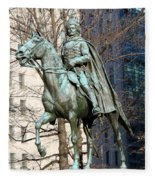 Brigadier General Casimir Pulaski Saved George Washington's Life Fleece Blanket