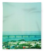 Brigantine Bridge - New Jersey Fleece Blanket