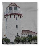 Brigantine Lighthouse Fleece Blanket