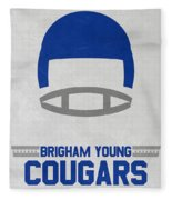 Brigham Young Cougars Vintage Football Art Fleece Blanket