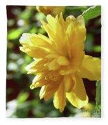Bright As Yellow Fleece Blanket