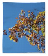 Bright Autumn Branch Fleece Blanket