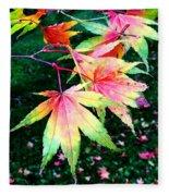Bright Autumn Leaves Tatton Park Fleece Blanket