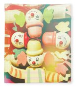 Bright Beaming Clown Show Act Fleece Blanket