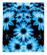 Bright Blue Daisies Fleece Blanket