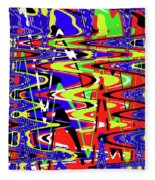 Bright Color Mix Abstract Fleece Blanket