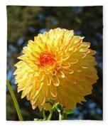 Bright Colorful Dahlia Flower Art Prints Baslee Troutman Fleece Blanket