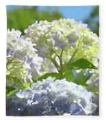 Bright Floral Art Pastel Blue Purple Hydrangeas Flowers Baslee Troutman Fleece Blanket